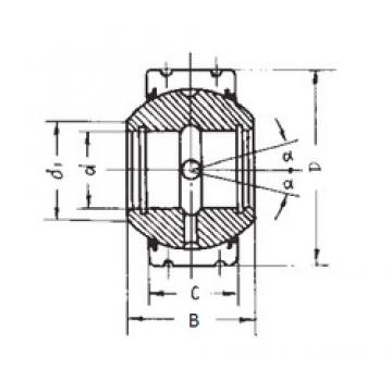 30 mm x 70 mm x 47 mm  FBJ GEK30XS-2RS FBJ Bearing