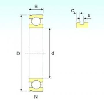 40 mm x 110 mm x 27 mm  ISB 6408 N ISB Bearing