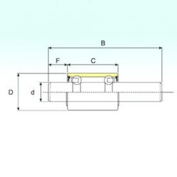 18,961 mm x 38,1 mm x 162,4 mm  ISB WB1938152 ISB Bearing
