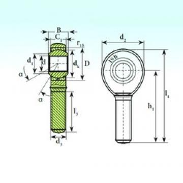 10 mm x 22 mm x 14 mm  ISB TSM 10 C ISB Bearing