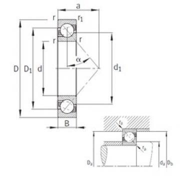 170 mm x 310 mm x 52 mm  FAG 7234-B-MP FAG Bearing