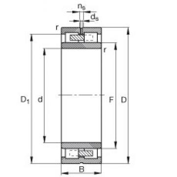 105 mm x 145 mm x 40 mm  FAG NNU4921-S-M-SP FAG Bearing