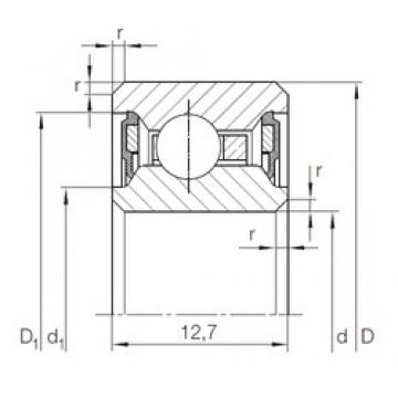 127 mm x 146,05 mm x 12,7 mm  INA CSCU 050.2RS INA Bearing