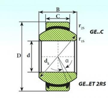 20 mm x 35 mm x 16 mm  ISB GE 20 C ISB Bearing