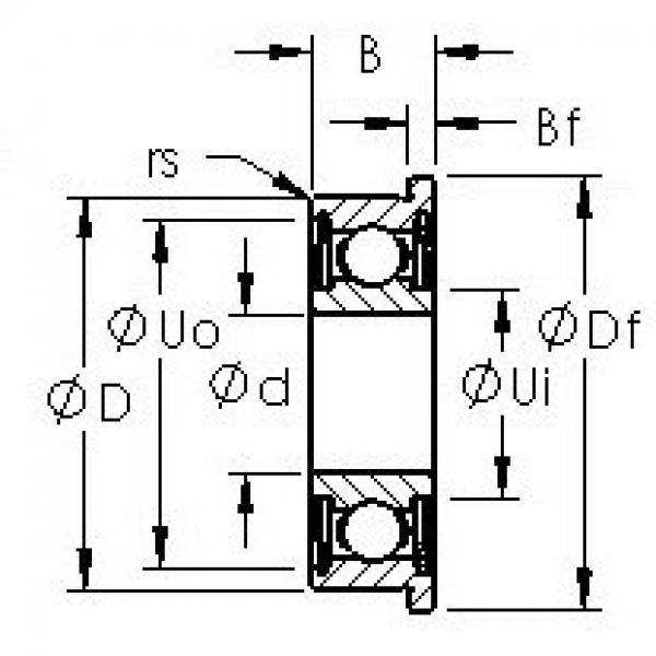 AST SFR1-4ZZ AST Bearing #3 image