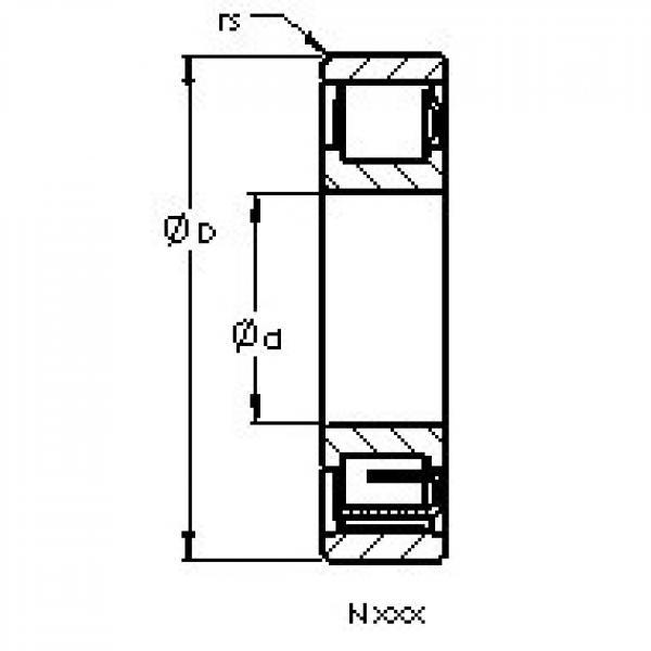 AST N1036 M AST Bearing #3 image