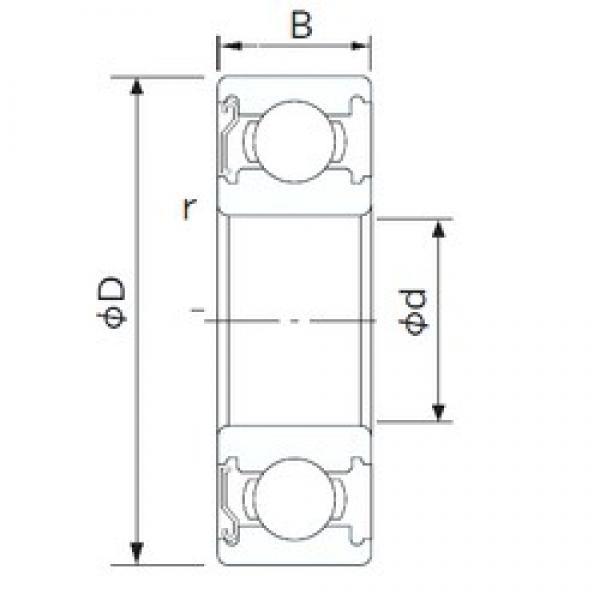 10 mm x 26 mm x 8 mm  CYSD 6000-Z CYSD Bearing #3 image