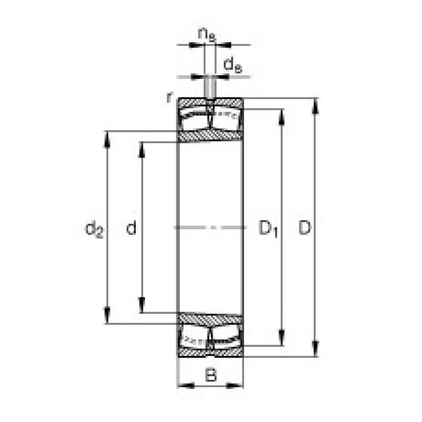 85 mm x 180 mm x 60 mm  FAG 22317-E1-K-T41A FAG Bearing #3 image