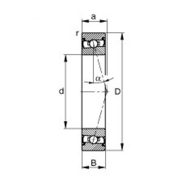 50 mm x 80 mm x 16 mm  FAG HSS7010-C-T-P4S FAG Bearing #3 image