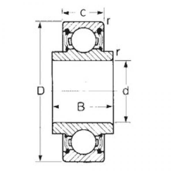 25 mm x 52 mm x 16,749 mm  CYSD 88505 CYSD Bearing #3 image