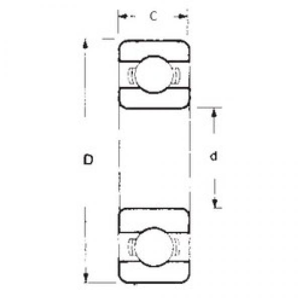 60 mm x 95 mm x 11 mm  FBJ 16012 FBJ Bearing #3 image