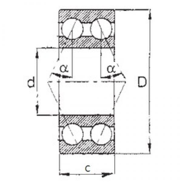 25 mm x 52 mm x 20,638 mm  FBJ 5205 FBJ Bearing #3 image