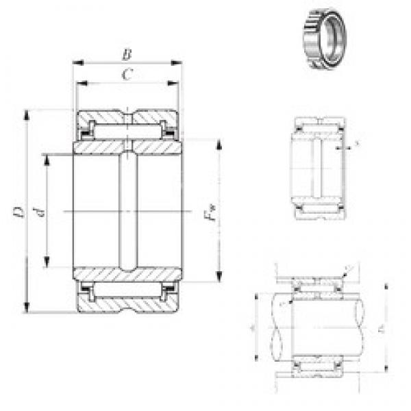 88,9 mm x 127 mm x 51,05 mm  IKO BRI 568032 IKO Bearing #3 image